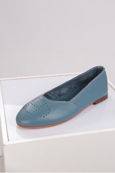 Hakiki Deri Vizon Floter Kadın Babet Ayakkabı 221214102