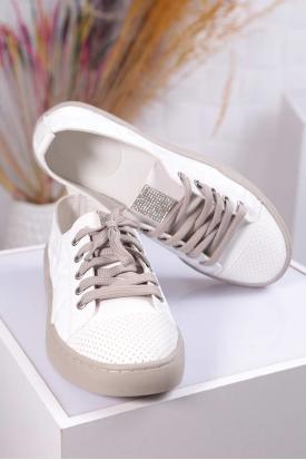 Beyaz Kamuflaj Kadın Sneaker Ayakkabı 211217101