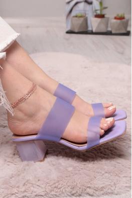 Lila Kadın Topuklu Terlik 211217601