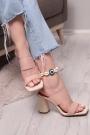 Ten Kırışık Rugan Kadın Yüksek Topuklu Terlik 211217602