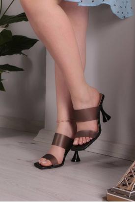 Siyah Kadın Topuklu Terlik 211217604