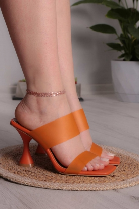 Turuncu Kadın Topuklu Terlik 211217604