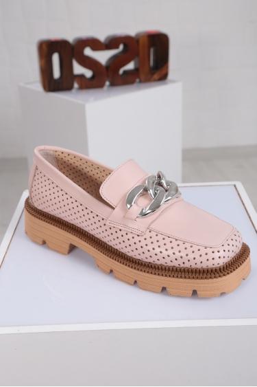 Hakiki Deri Pudra Kadın Oxford Ayakkabı 221222103