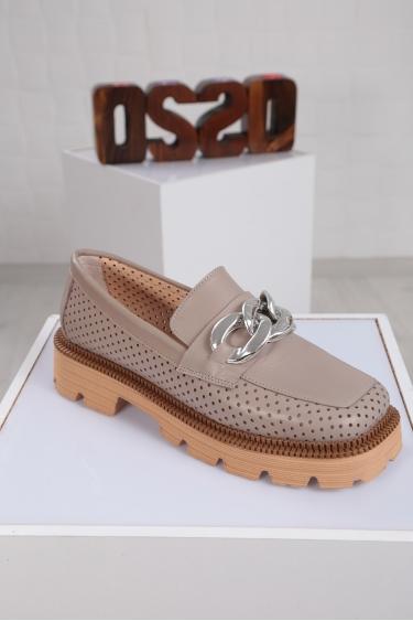 Hakiki Deri Açık Vizon Kadın Oxford Ayakkabı 221222103