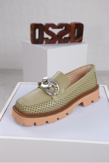 Hakiki Deri Avokado Kadın Oxford Ayakkabı 221222103