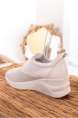 Hakiki Deri Beyaz Kadın Sneaker Ayakkabı 211225118