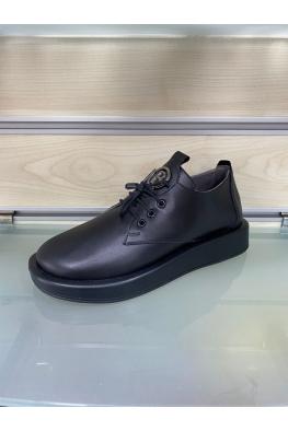 Hakiki Deri Siyah Kadın Comfort Ayakkabı 212229101