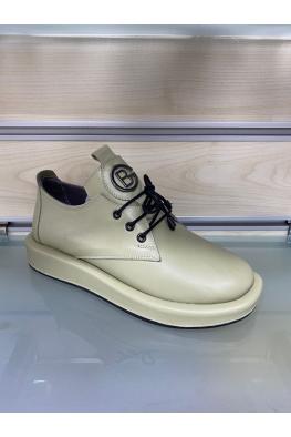 Hakiki Deri Avakado Yeşil Kadın Comfort Ayakkabı 212229101