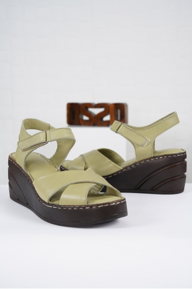Hakiki Deri Scorpion Kadın Komfort Sandalet 221232510