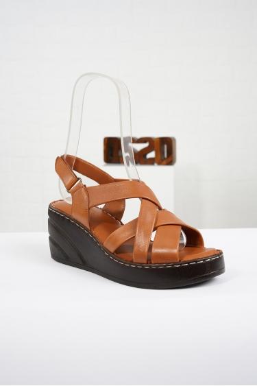 Hakiki Deri Taba Kadın Komfort Sandalet 221232511