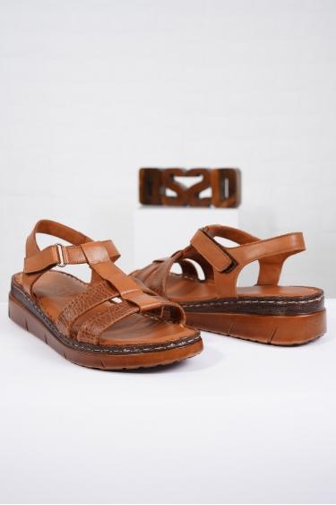 Hakiki Deri Taba Kadın Komfort Sandalet 221232512