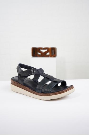 Hakiki Deri Lacivert Kadın Komfort Sandalet 221232512