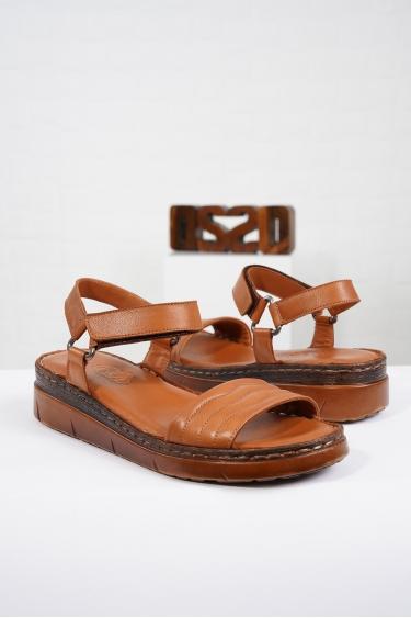 Hakiki Deri Taba Kadın Komfort Sandalet 221232514