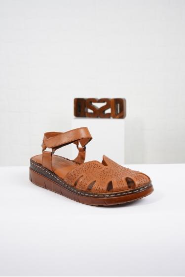 Hakiki Deri Taba Kadın Komfort Sandalet 221232515