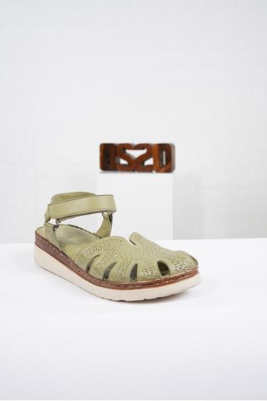 Hakiki Deri Scorpion Kadın Komfort Sandalet 221232515