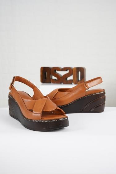 Hakiki Deri Taba Kadın Komfort Sandalet 221232516