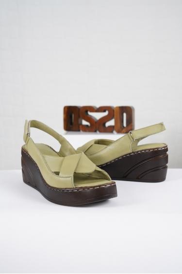 Hakiki Deri Scorpion Kadın Komfort Sandalet 221232516