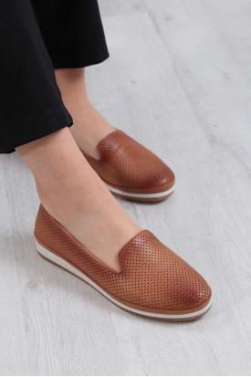 Hakiki Deri Taba Kadın Comfort Ayakkabı 235-299-D