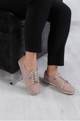 Hakiki Deri Pudra Kadın Comfort Ayakkabı 202235109