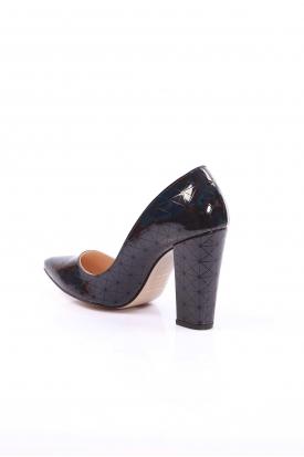 Siyah Hologram Kadın Stiletto Ayakkabı 251-32-200